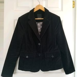 *4/$30* Lady Hathaway Black Corduroy Jacket